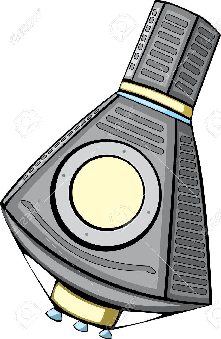 Space capsule clipart.