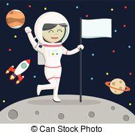 Vectors Illustration of Moon Landing.