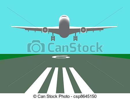 Landing cliparts.