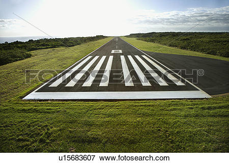 Picture of Aerial view of airplane landing field on Maui Hawaii.