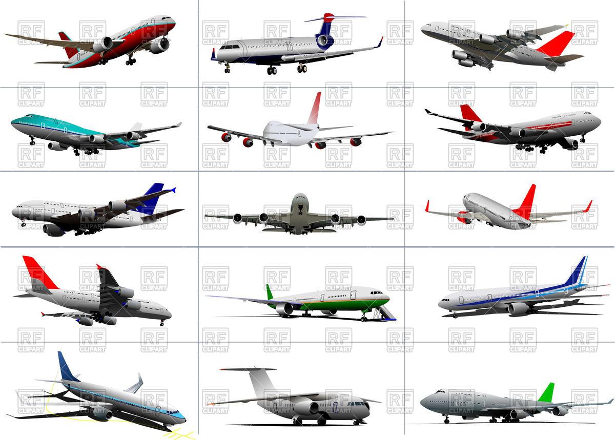 Passenger planes.