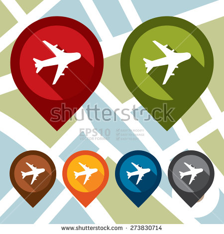 Vector : Aeroplane, Airplane, Airport, Landing Field, Or Logistic.
