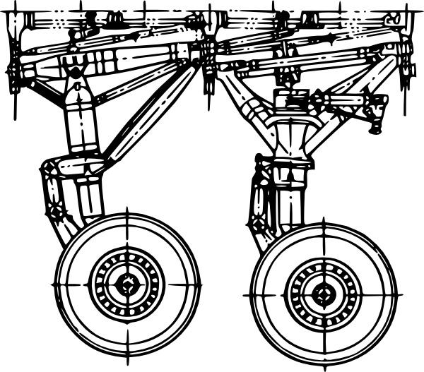 Landing Gear clip art Free vector in Open office drawing svg.