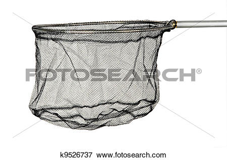 Picture of landing net isolated on white background k9526737.