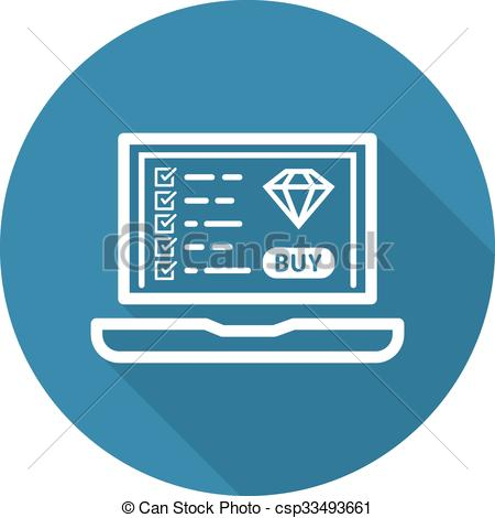 Clip Art Vector of Landing Page Icon. Flat Design. Business.
