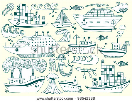 Landing Stage In Switzerland Stock Vector Illustration 98542388.