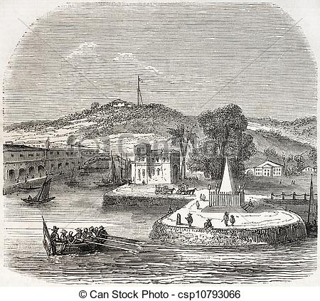 Stock Illustration of Singapore landing stage.