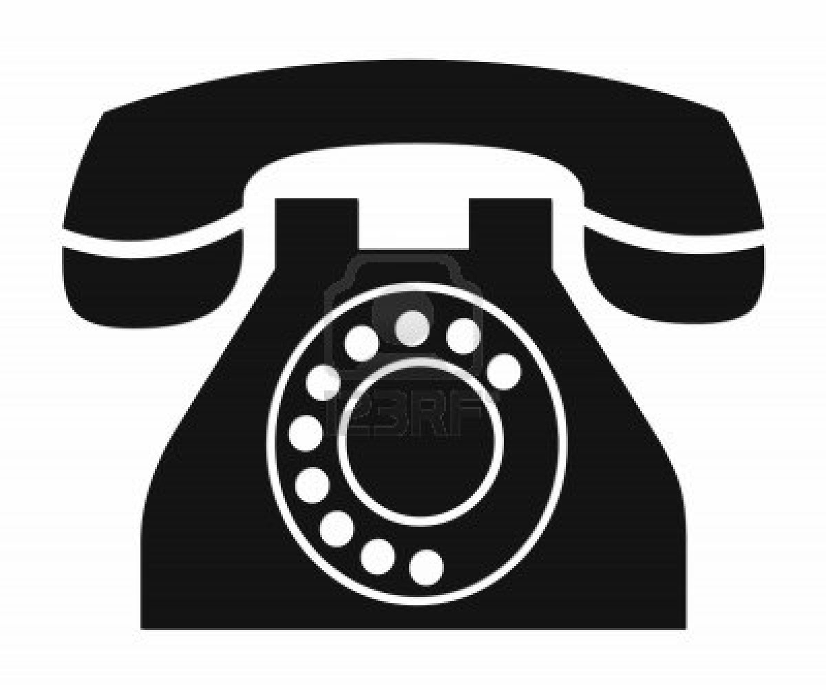 Landline phone clipart.