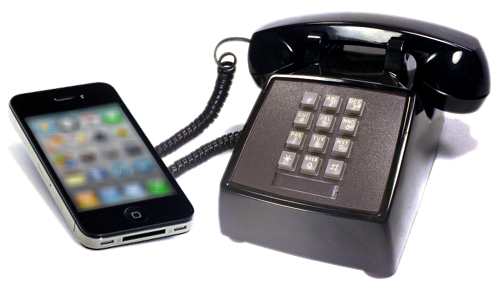 File:Smartphone and Landline phone.png.