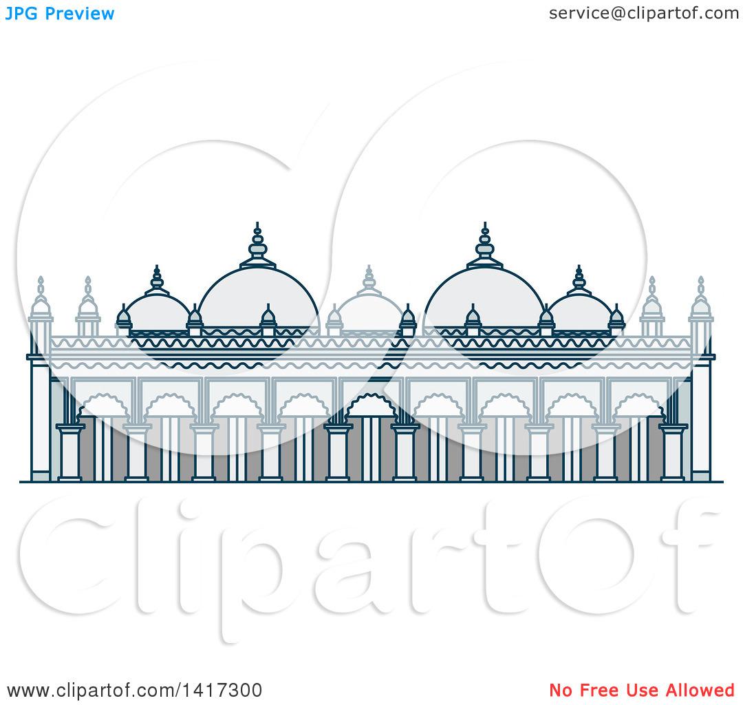 Clipart of a Bangladesh Landmark, Star Mosque.
