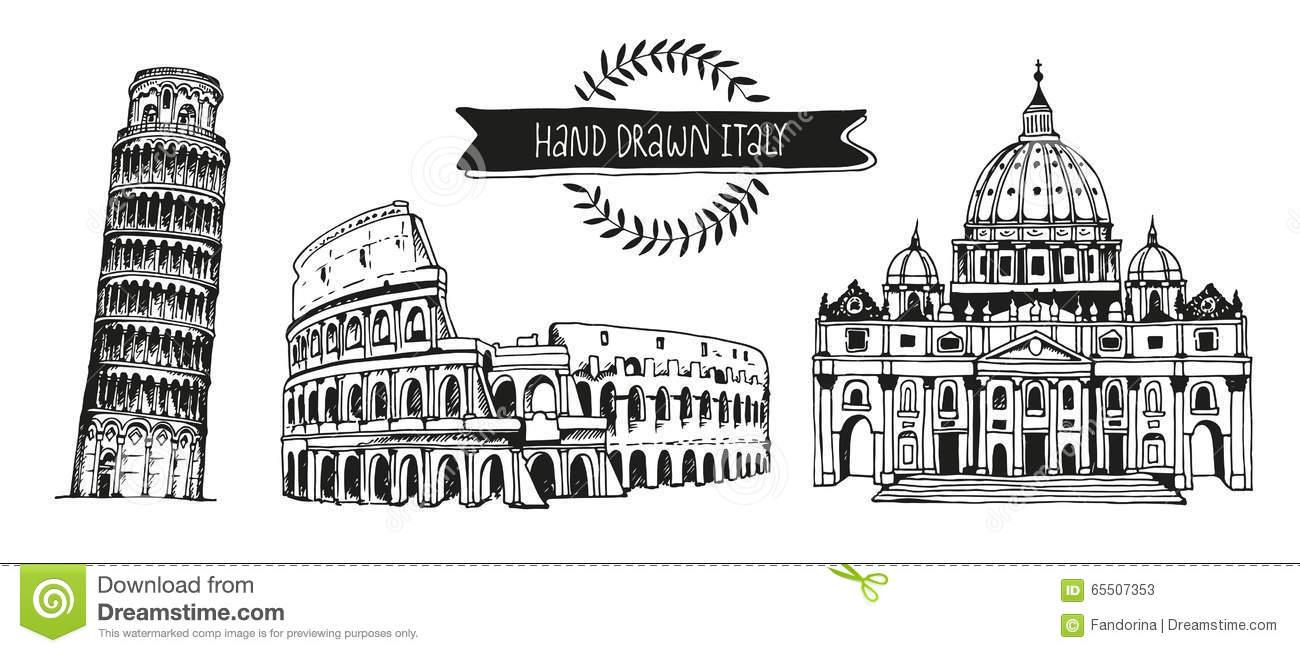Italy Landmark Clipart.