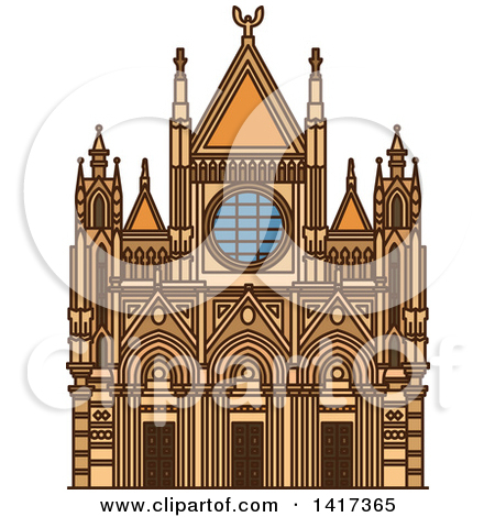 Clipart of a Italian Landmark, Siena Cathedral.