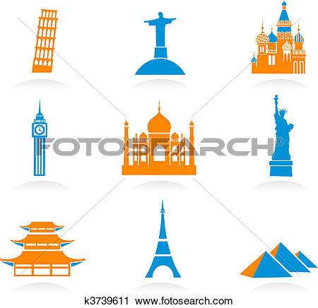 Clipart of Vector illustration of London landmarks k3221262.