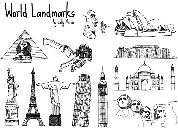 Free clipart landmarks.