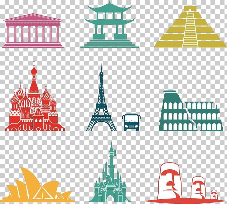 Monument Photography Icon, World famous landmarks.