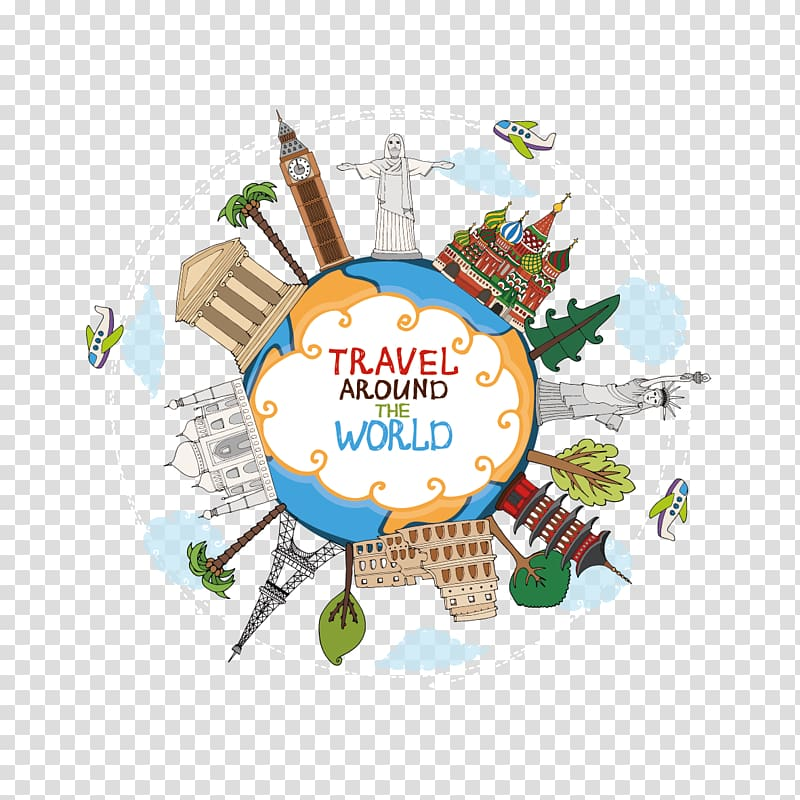 World Travel Landmark , Global Travel transparent background.