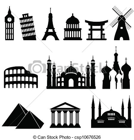 Vector Illustration of Travel landmarks and monuments.