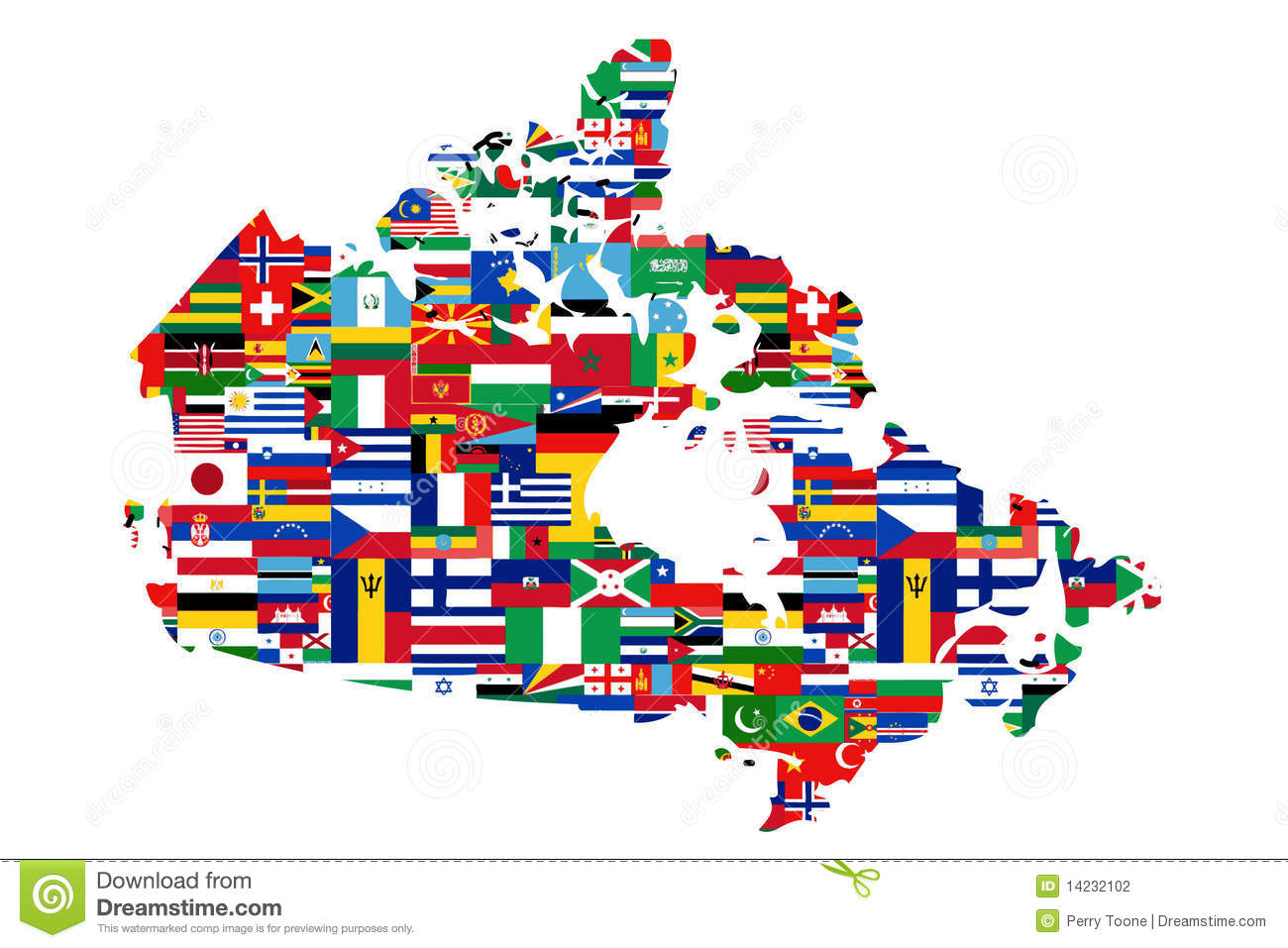 Canadian Map Clipart.