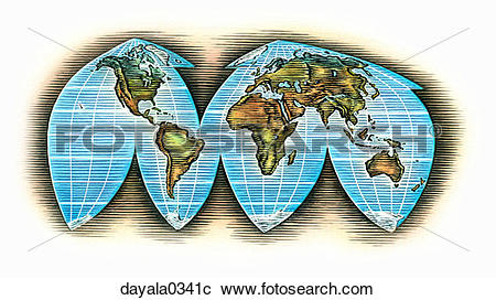 Stock Photography of map, world map, continents, land mass, earth.