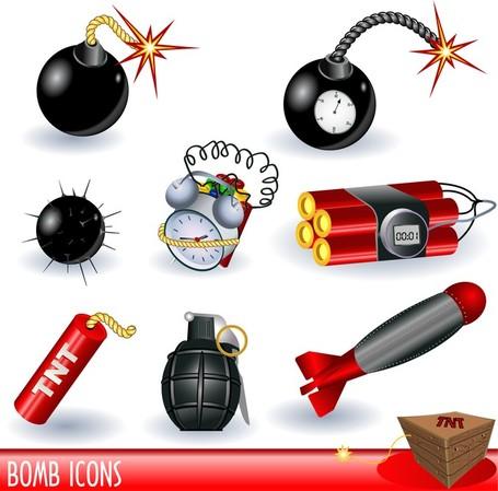Bombs Landmines Series, Vectors.