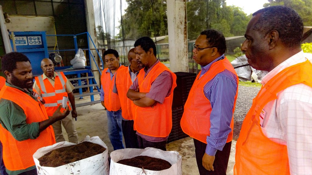 Department of Lands impressed with PNG Biomass customary.