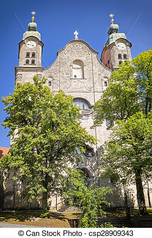 Stock Photo of Holy Cross Church Landsberg.