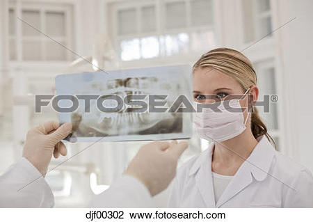 Stock Photo of Germany, Bavaria, Landsberg, Dentist and Female.