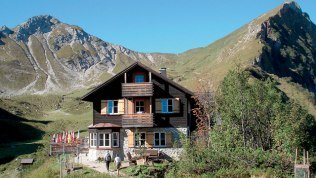 Landsberger Hütte (1,810 m) Allgäuer Alps, Tannheimer Tal Valley.