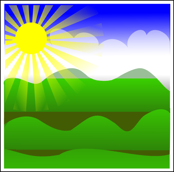 Sun Landscape Clip Art at Clker.com.