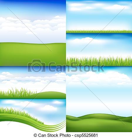 Vektor Clip Art von Landschaften.