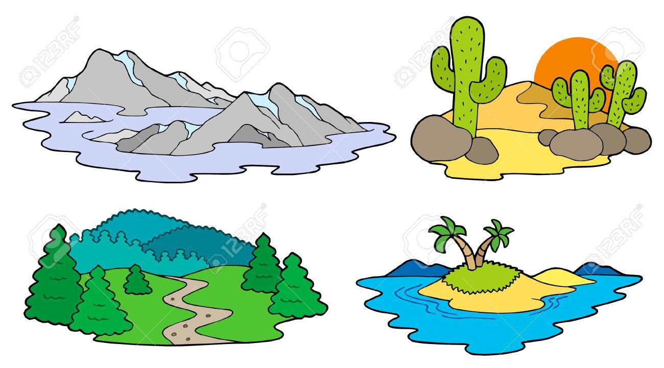 Verschiedene Landschaften Auflistung.