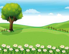 Landscape background clipart.