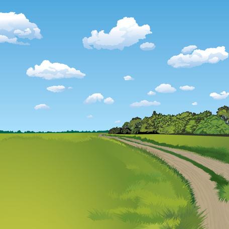 Summer Landscape Background (Free), Vector File.