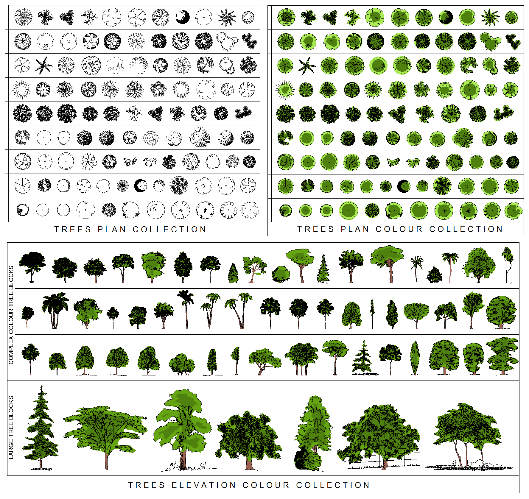 Architectural Trees Png Tr02 tree collection bundle png.