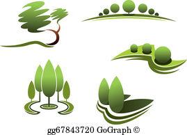 Landscape Design Clip Art.