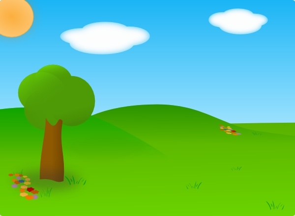 Cartoon Landscape clip art Free vector in Open office drawing svg.