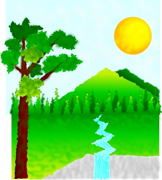 Natural Landscape clip art Free vector in Open office drawing svg.