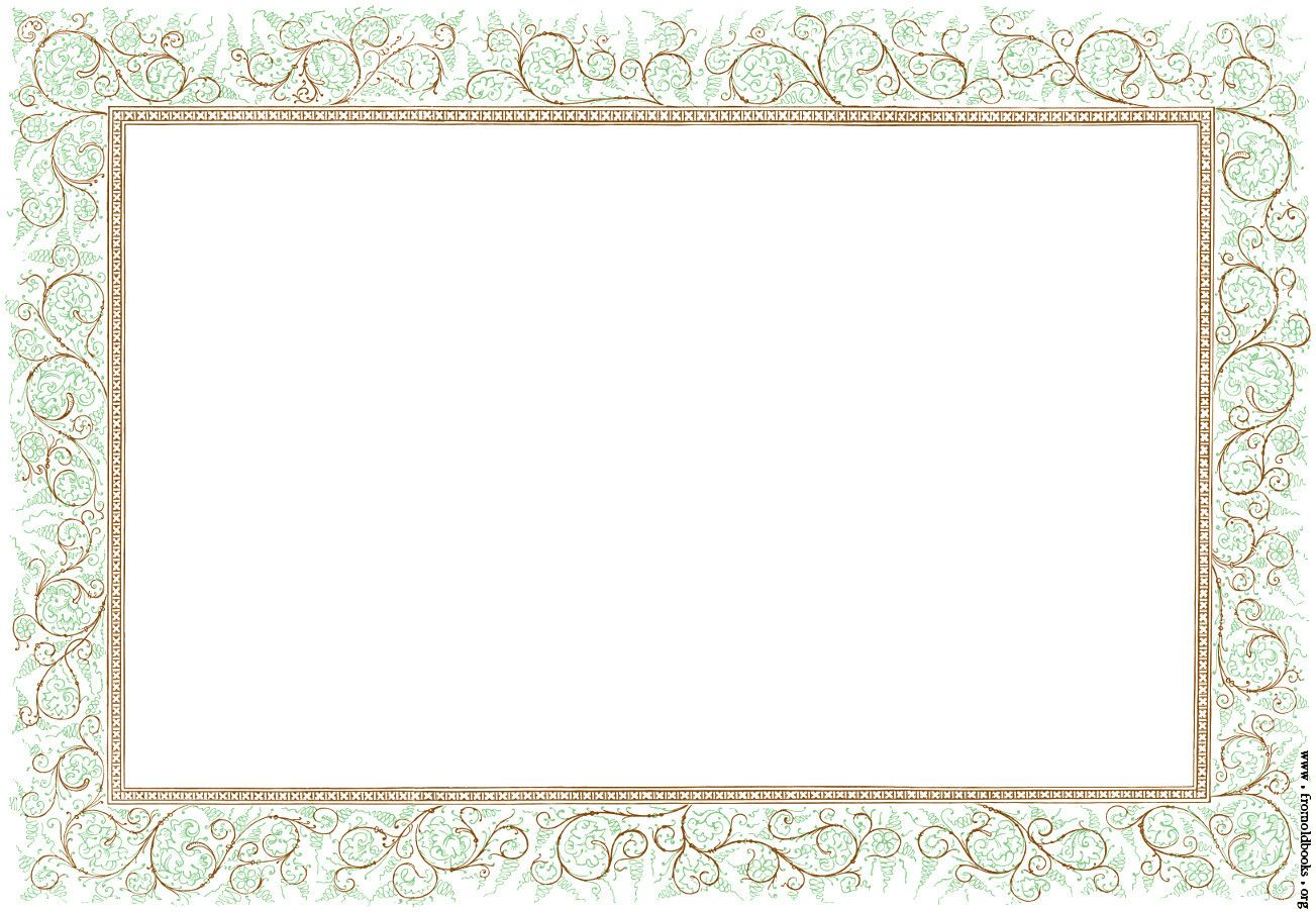 flower and lace border clip art.