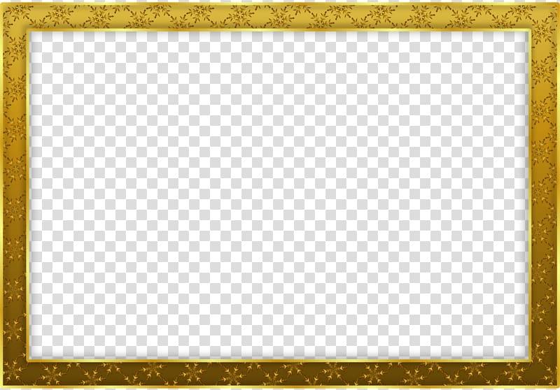 Gold painting frame, Simple Gold Frame Landscape transparent.