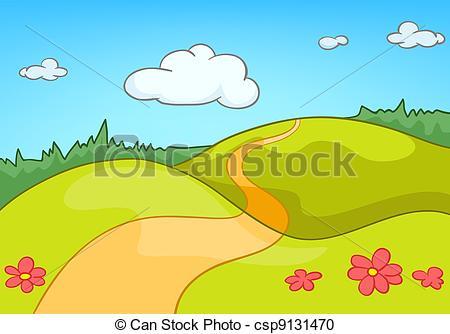 Nature landscape clipart.