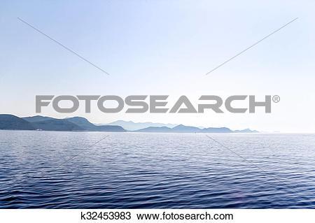 Stock Photo of Mediterranean landscape panorama k32453983.