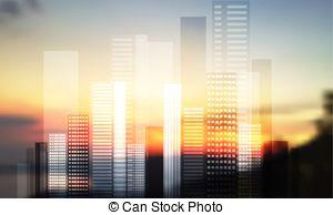 Vector Clip Art of urban landscape. panorama town csp15831813.