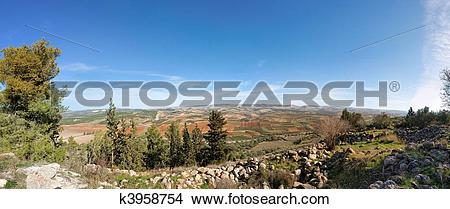 Drawings of Mediterranean landscape panorama k3958754.