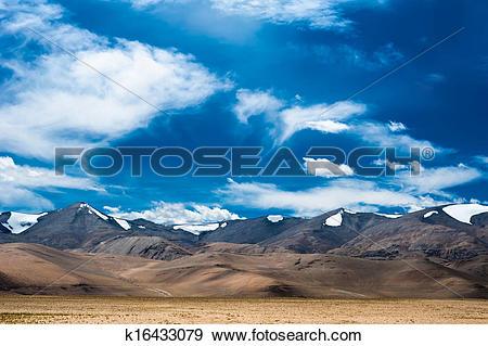 Stock Photograph of Himalaya high mountain landscape panorama.