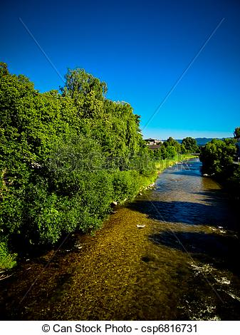 Stock Photography of Peaceful river bed csp6816731.