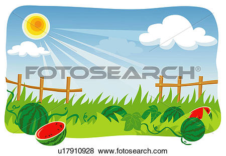 Clip Art of changing, scenic, weather, climate, scenery, landscape.