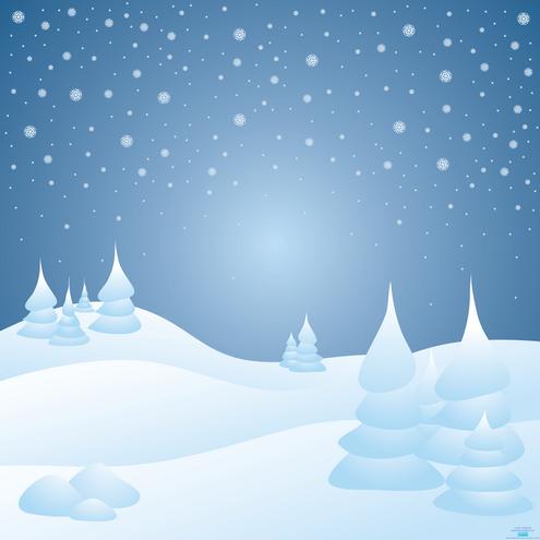 Snowy landscape clipart.