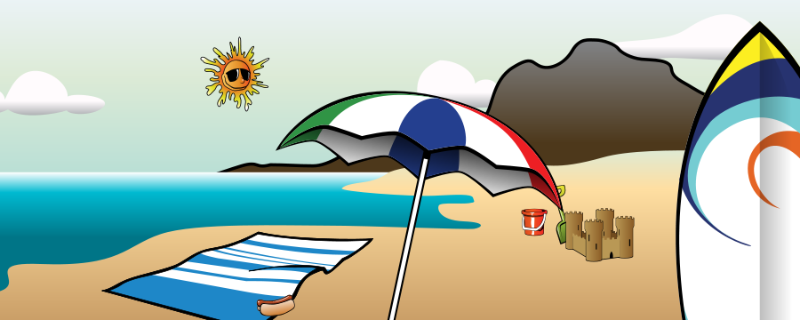 Summer 2010 Collage Clipart, vector clip art online, royalty free.