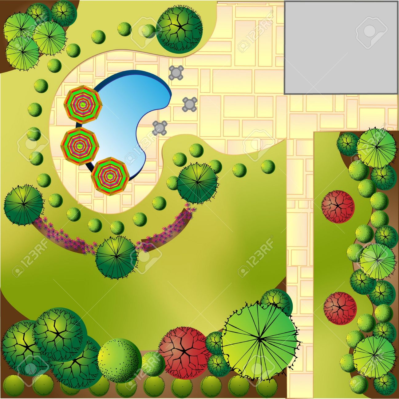 Landscaped garden clipart 20 free Cliparts   Download ...