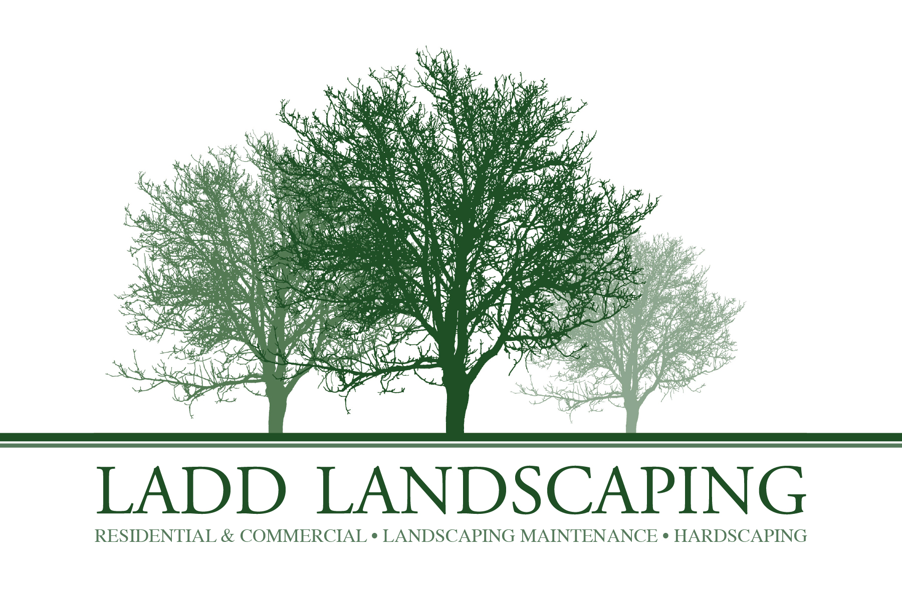 Landscaping clipart for design.